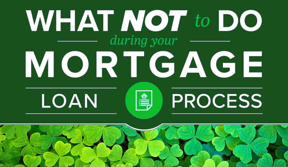 What Not to Do During Your Mortgage Loan Process