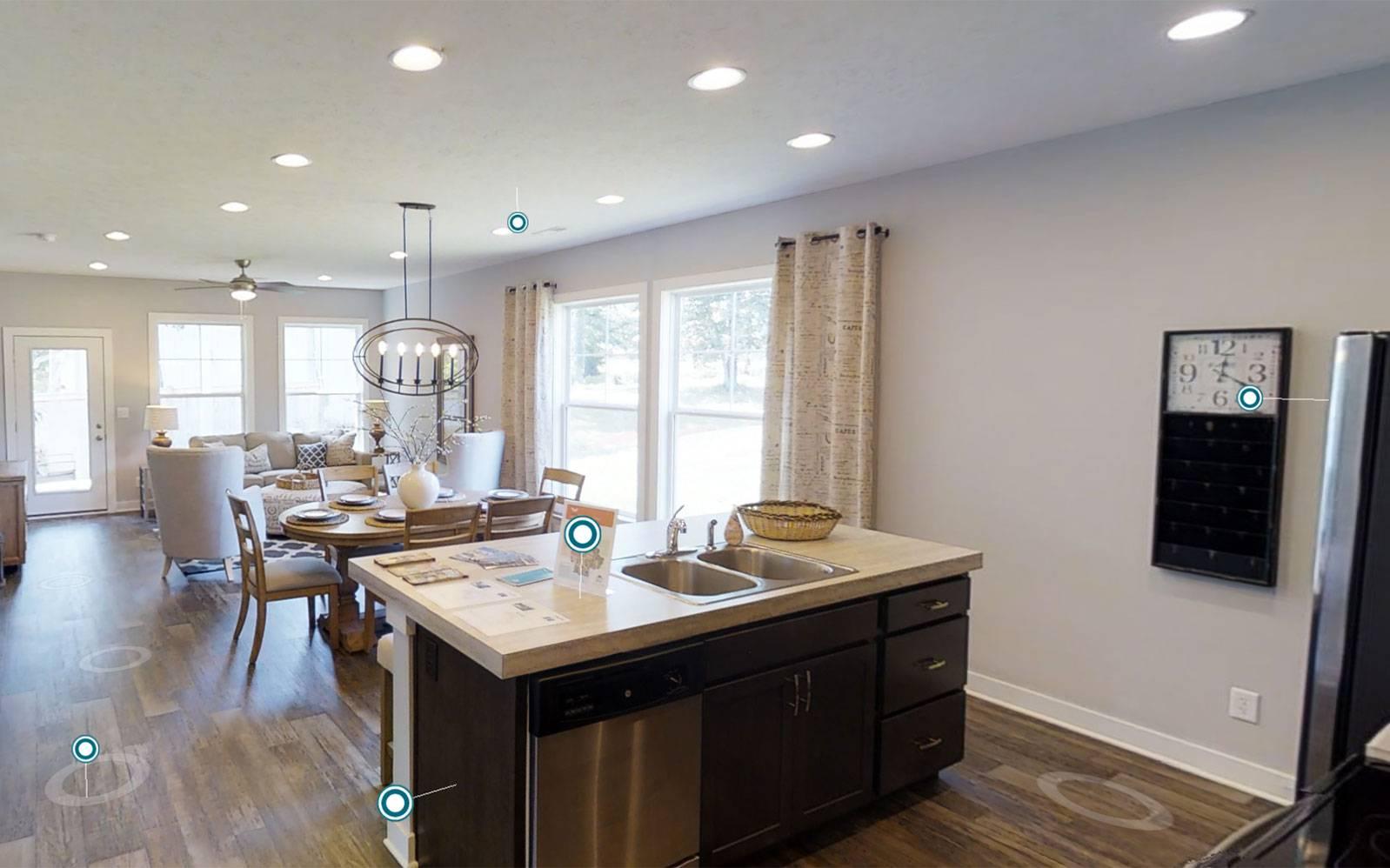 Jagoe Homes Leonardo Kitchen and Living Area