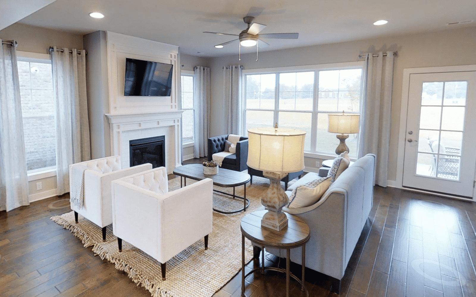 Jagoe Homes Vanderbilt Living Area