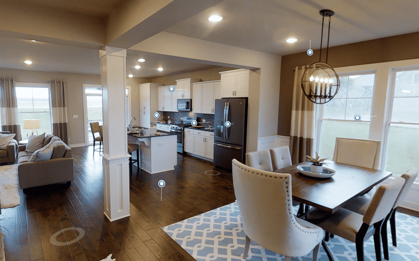 Jagoe Homes Walnut Kitchen Area