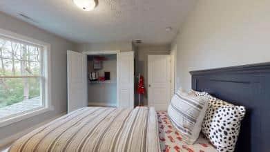 Jagoe Model HomesCumberland CraftsmanLone Oak VillageLouisville, KYboy's bedroom design, grey bed