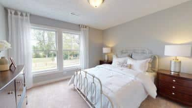 Jagoe Model HomesCumberland CraftsmanLone Oak VillageLouisville, KYgirl's bedroom design, guest bedroom, secondary bedroom, white bedding