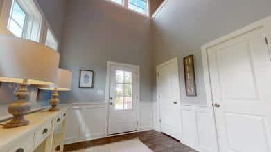 Jagoe Model HomesCumberland CraftsmanLone Oak VillageLouisville, KYEntry, masonite doors, white, grey, small windows