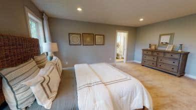 Jagoe Model HomesCumberland CraftsmanLone Oak VillageLouisville, KYmaster bedroom design, owner's suite, mohawk carpet