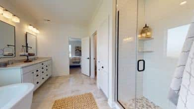 Jagoe Model HomesLittle Rock Craftsman w/ 3rd BayTurnberry at BerkshireNewburgh, INceramic shower, emser subway tile