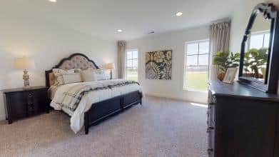 Jagoe Model HomesLittle Rock Craftsman w/ 3rd BayTurnberry at BerkshireNewburgh, INmaster bedroom, bedroom design, owner's suite, king size bed