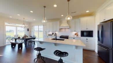 Jagoe Model HomesLittle Rock Craftsman w/ 3rd BayTurnberry at BerkshireNewburgh, INkitchen, dining area